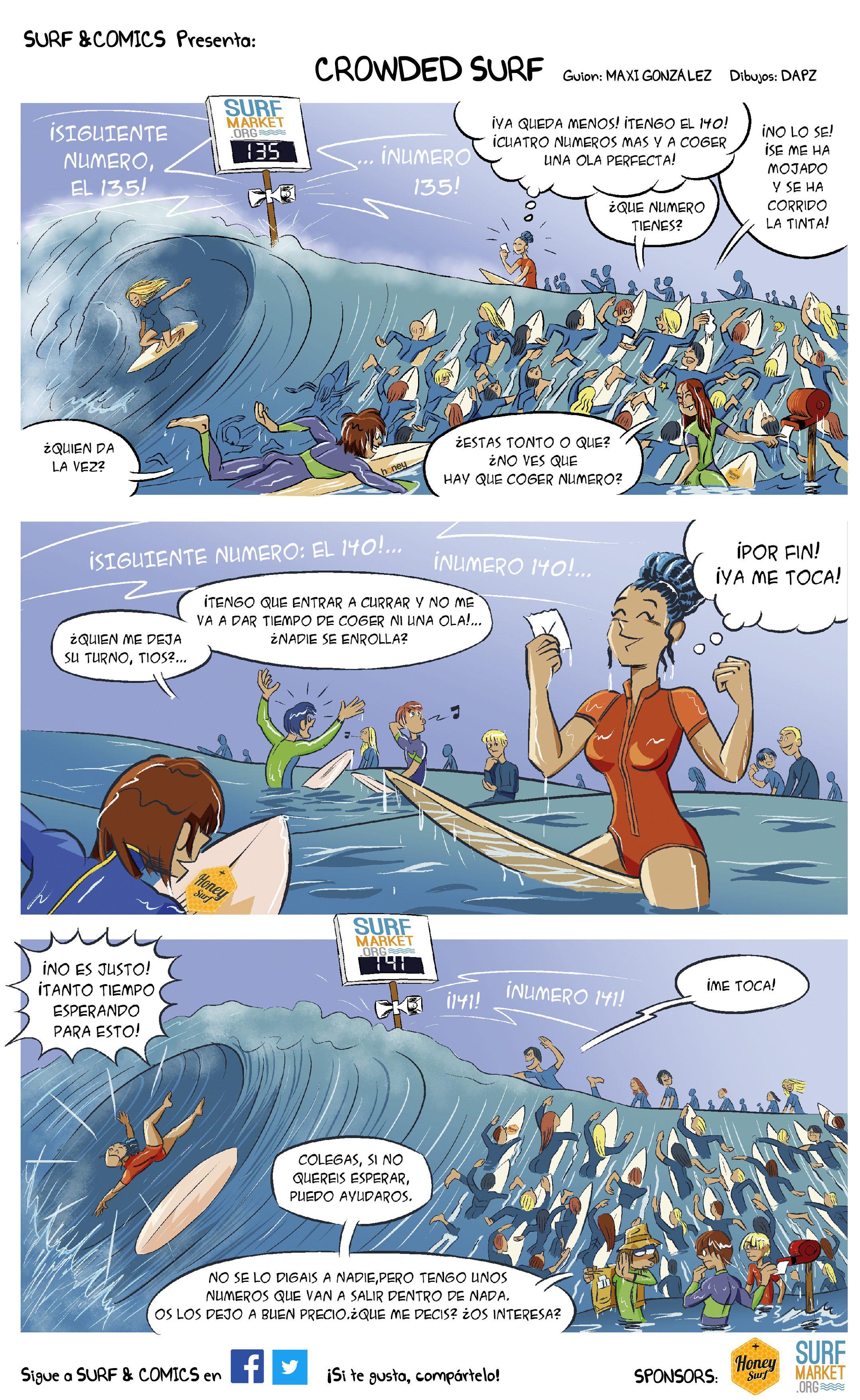 Crowded Surf. Español